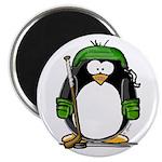 Green Hockey Penguin 2.25
