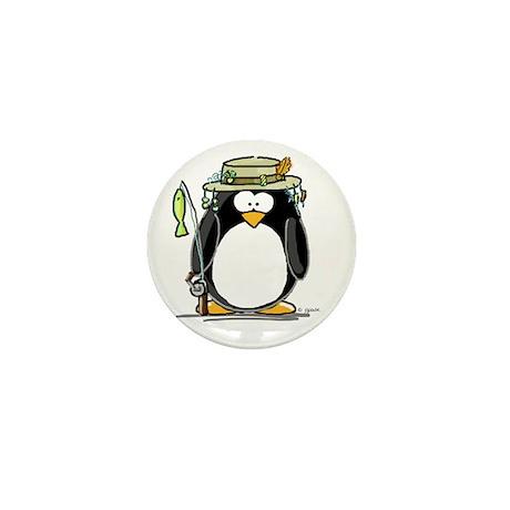 Fishing penguin Mini Button (100 pack)