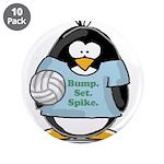 """volleyball bump set spike Pen 3.5"""" Button (10"""