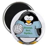 """volleyball bump set spike Pen 2.25"""" Magnet (1"""