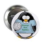 """volleyball bump set spike Pen 2.25"""" Button (1"""