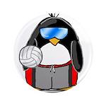 "beach volleyball boy Penguin 3.5"" Button (100"