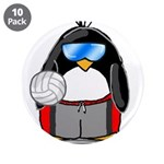 "beach volleyball boy Penguin 3.5"" Button (10"
