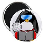 """beach volleyball boy Penguin 2.25"""" Magnet (10"""