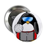 "beach volleyball boy Penguin 2.25"" Button (10"