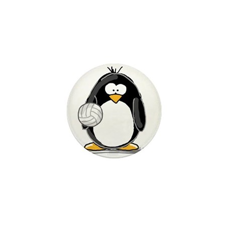 volleyball Penguin Mini Button (10 pack)