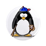 "Baseball penguin 3.5"" Button (100 pack)"