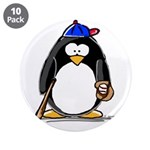"Baseball penguin 3.5"" Button (10 pack)"
