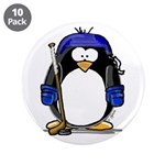 "Hockey Penguin 3.5"" Button (10 pack)"