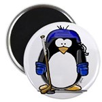 "Hockey Penguin 2.25"" Magnet (100 pack)"