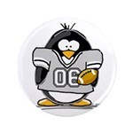 "Silver Football Penguin 3.5"" Button (100 pack"