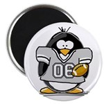 "Silver Football Penguin 2.25"" Magnet (100 pac"