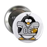 "Silver Football Penguin 2.25"" Button (10 pack"
