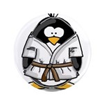 "Martial Arts brown belt pengu 3.5"" Button (10"