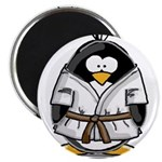 "Martial Arts brown belt pengu 2.25"" Magnet (1"