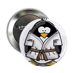 "Martial Arts brown belt pengu 2.25"" Button (1"