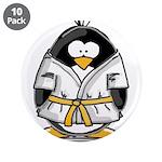 """Martial Arts gold belt pengui 3.5"""" Button (10"""