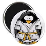 "Martial Arts gold belt pengui 2.25"" Magnet (1"