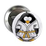 """Martial Arts gold belt pengui 2.25"""" Button (1"""