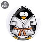 "Martial Arts orange belt peng 3.5"" Button (10"