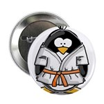 "Martial Arts orange belt peng 2.25"" Button (1"
