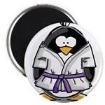 "Martial Arts purple belt peng 2.25"" Magnet (1"