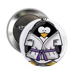 "Martial Arts purple belt peng 2.25"" Button (1"