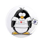 """Massachusetts Penguin 3.5"""" Button (100 pack)"""