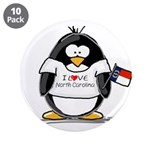 "North Carolina Penguin 3.5"" Button (10 pack)"