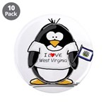 "West Virginia Penguin 3.5"" Button (10 pack)"