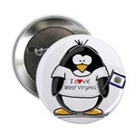 "West Virginia Penguin 2.25"" Button (10 pack)"