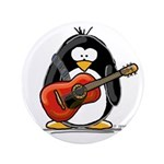 "Red Acoustic Guitar Penguin 3.5"" Button (100"