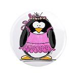 "Ballet Penguin 3.5"" Button (100 pack)"