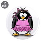 "Ballet Penguin 3.5"" Button (10 pack)"