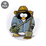 "Treasure Hunter Penguin 3.5"" Button (10 pack)"