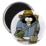 "Treasure Hunter Penguin 2.25"" Magnet (10 pack"