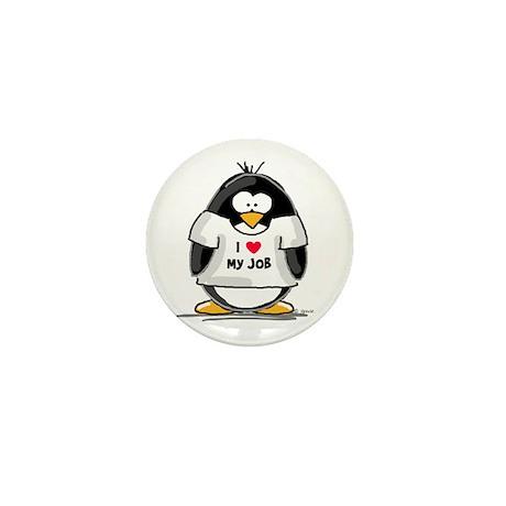 I Love My Job Penguin Mini Button (100 pack)