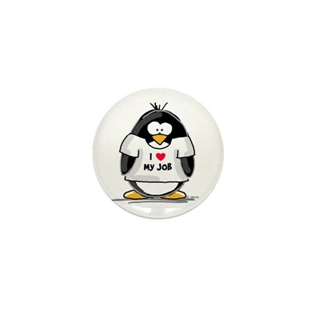 I Love My Job Penguin Mini Button (10 pack)