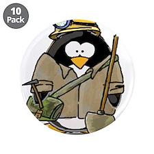 "Miner Penguin 3.5"" Button (10 pack)"