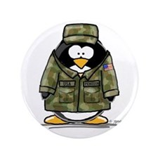 "US Military Penguin 3.5"" Button (100 pack)"