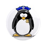 "Policeman penguin 3.5"" Button (100 pack)"