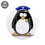 "Policeman penguin 3.5"" Button (10 pack)"