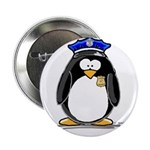 "Policeman penguin 2.25"" Button (10 pack)"