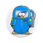 """Deep Sea Diver Penguin 3.5"""" Button (100 pack)"""
