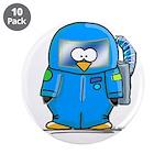 """Deep Sea Diver Penguin 3.5"""" Button (10 pack)"""