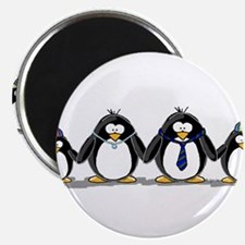 "Penguin family with two boys 2.25"" Magnet (10"