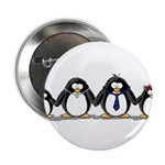 "Penguin family with 2 girls 2.25"" Button (100"