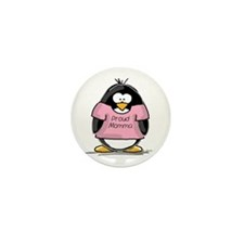 Proud Momma penguin Mini Button (10 pack)
