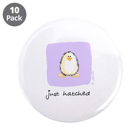 """just hatched Penguin 3.5"""" Button (10 pack)"""