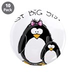 "Best Big Sister penguins 3.5"" Button (10 pack"